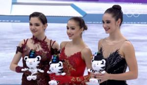 Олимпийские призеры в женском одиночном катании. Пхенчхан-2018.