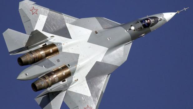 Путин прилетел в Ахтубинск в сопровождении шести новейших Су-57