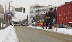 ДТП в Барнауле с участием автобуса.