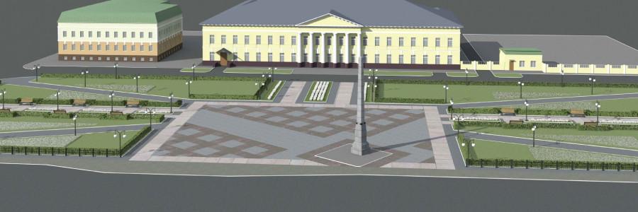 Эскиз Демидовской площади.