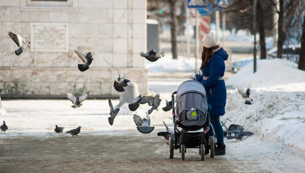 Последний день зимы в Барнауле.