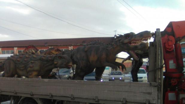 Динозавры в Бийске.