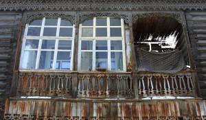 Деревянные дома в Барнауле.