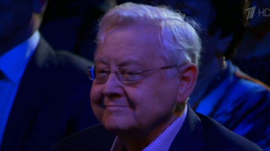 Олег Табаков на праздновании 80-летнего юбилея 16.01.2016.