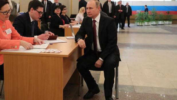 Владимир Путин на выборах-2018.