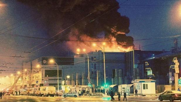 """Пожар в кемеровском торговом центре """"Зимняя вишня""""."""