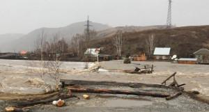 Паводок на Алтае 2018.  Вода в с. Солонешное (Солонешенский район)