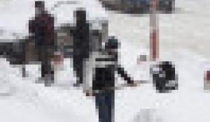 Уборка снега в Барнауле.