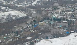 Паводок на Алтае 2018. Вид сверху, март.