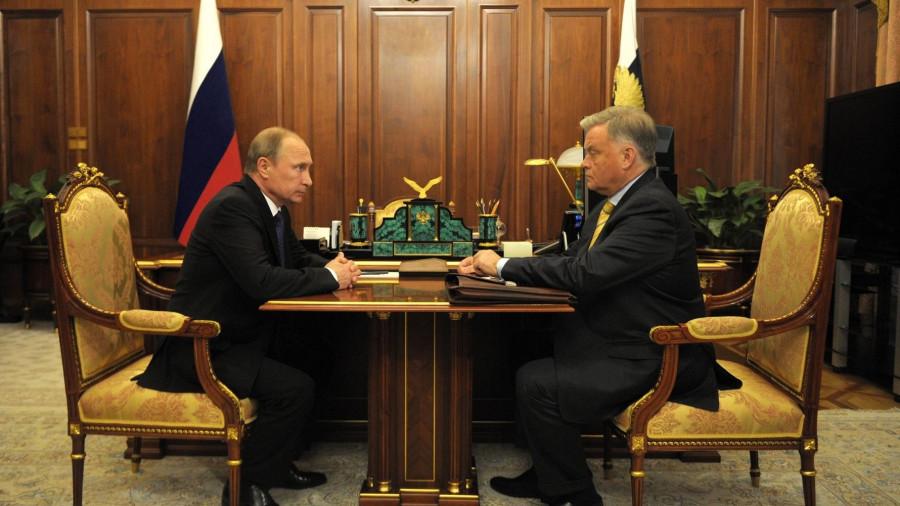 Владимир Путин и Владимир Якунин.