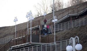 Лестница в Нагорном парке.