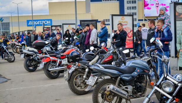 Барнаульские байкеры открыли мотосезон. 29 апреля 2018 года.