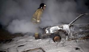 В Алтайском крае сгорел автомобиль.