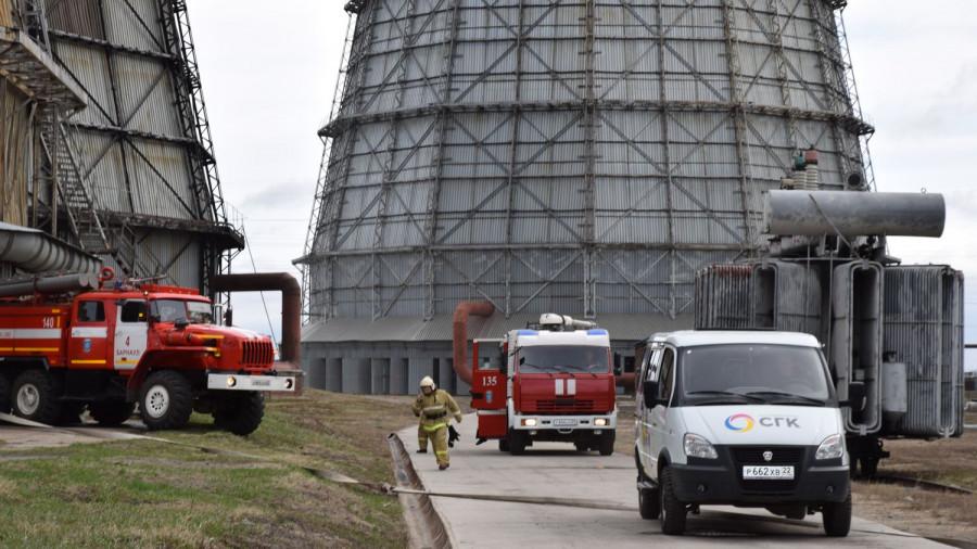 Пожарно-тактические учения на Барнаульской ТЭЦ-2.