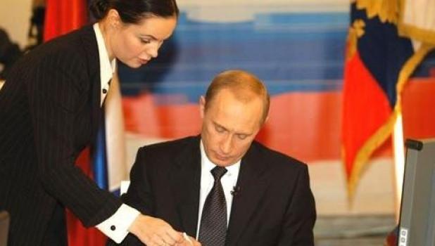 Екатерина Андреева и Владимир Путин.