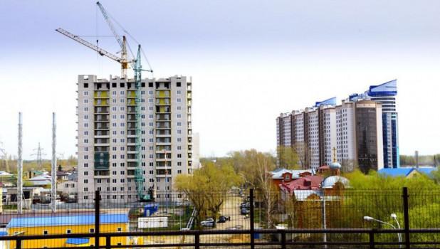 Вид на Барнаул. Новостройки. Речной вокзал.