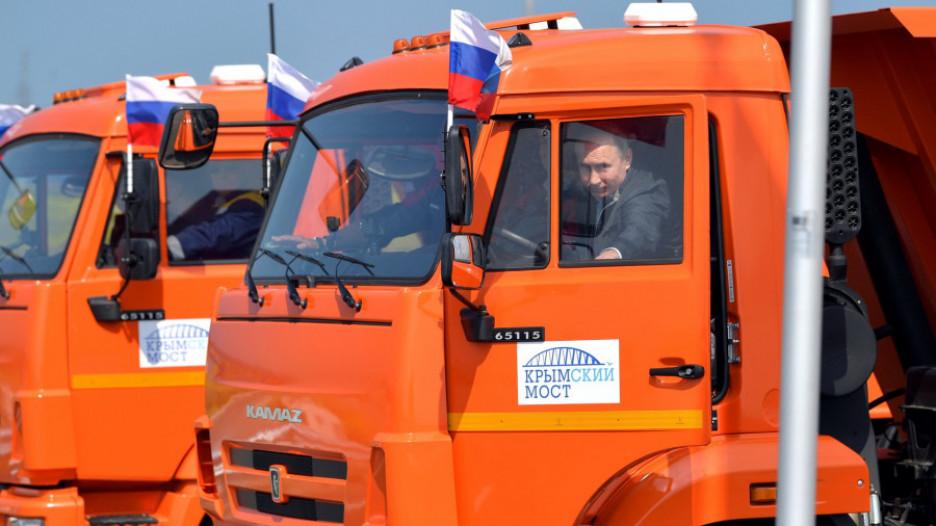 Владимир Путин на открытии Крымского моста. 15 мая 2018 года.