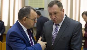 Борис Трофимов и Андрей Щукин на представлении врио губернатора Алтайского края Виктора Томенко. 1 июня 2018 года.