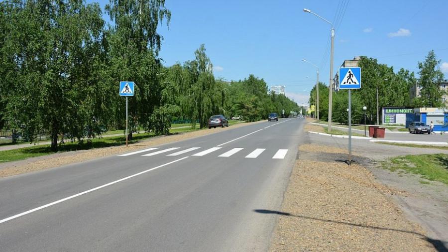 Ремонт дороги на улице Панфиловцев в Барнауле