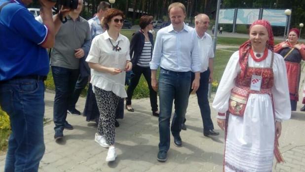 Врио губернатора Виктор Томенко с супругой Татьяной.