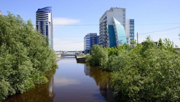 Паводок на Алтае-2018. Обь в Барнауле.