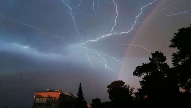 Гроза и радуга в Бийске