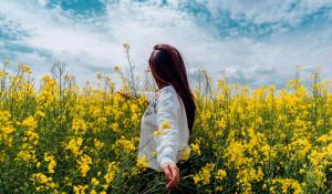Лето. Девушка в поле.