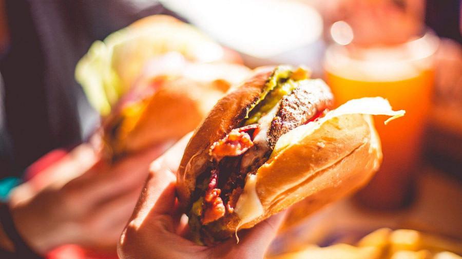 Бургер. Еда.