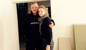 Мария Бутина с отцом Валерием Бутиным.