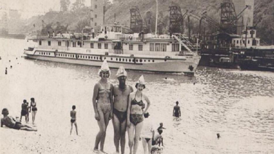 Пляж на Ковше. 60-е годы