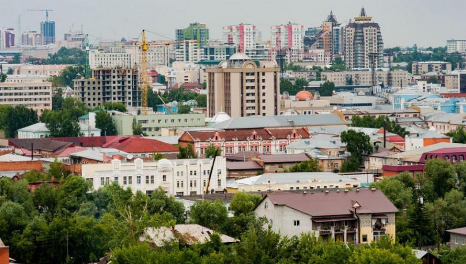 Вид на Барнаул. Центр. Новостройки.