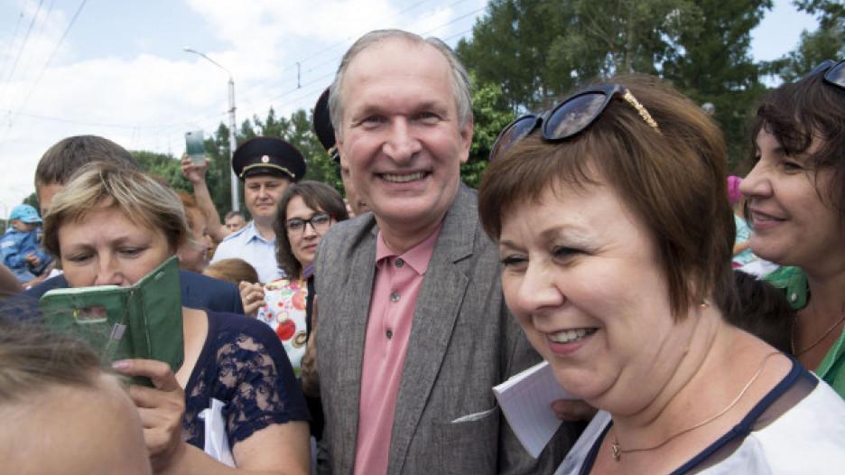 Федор Добронравов. Открытие Шукшинских дней в Барнауле. 24 июля 2018 года.