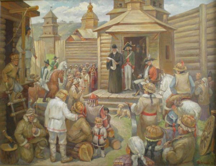 Бийская крепость 1756 год. 2006. Х.,м.
