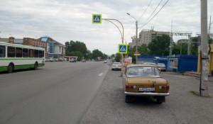 Пешеходный переход на ул. Энтузиастов, 20а
