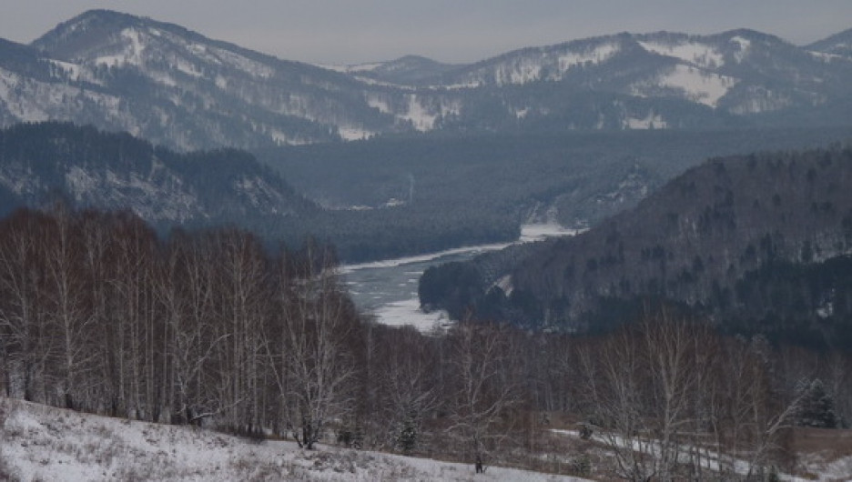 Горный Алтай зимой.