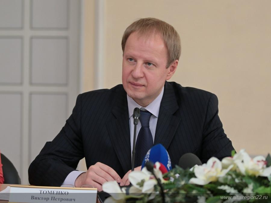 Встреча врио губернатора Алтайского края Виктора Томенко с представителями общественности.
