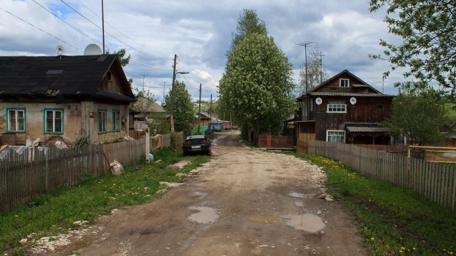 Дома, деревня.
