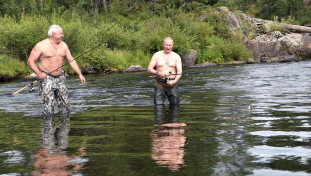Виктор Зимин и президент РФ Владимир Путин.