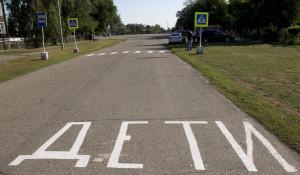 Внимание, дети! пешеходный переход у школы.