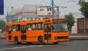 Автобус в Барнауле.
