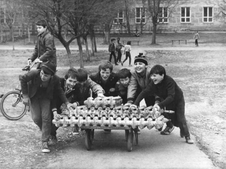 Сбор металлолома. СССР.