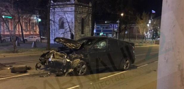 ДТП с BMW  X6 на проспекте Ленина. Барнаул, 15 октября 2018 года.