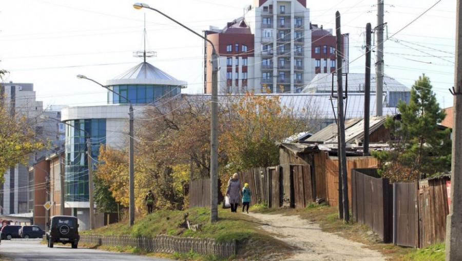 Будущий Обской бульвар. Вид на город.