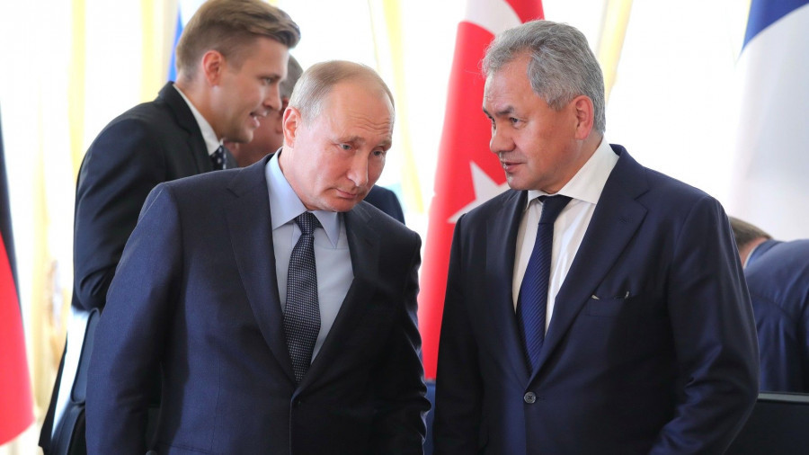 Владимир Путин и Сергей Шойгу.