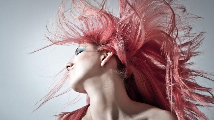 Прическа. Розовые волосы. Стиль