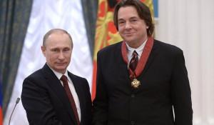 Владимир Путин и гендиректор Первого канала Константин Эрнст.