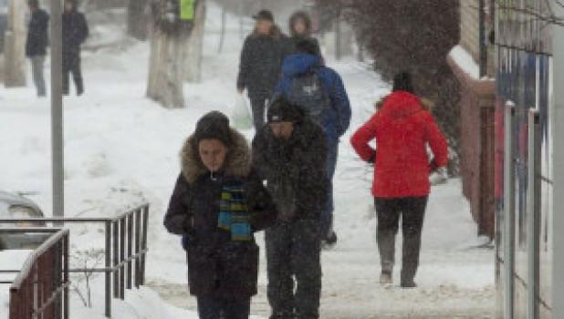 Зима в Барнауле. Люди.