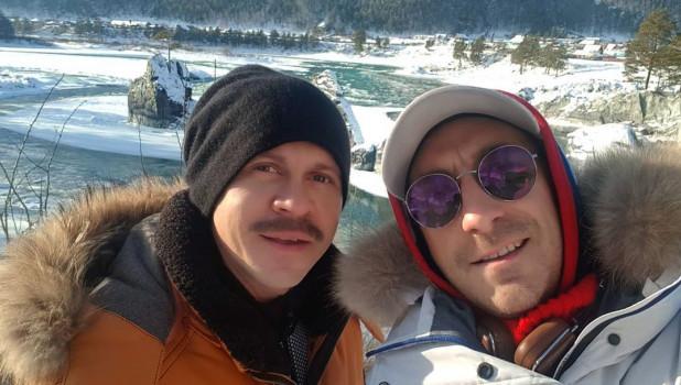 Павел Деревянко и Артём Ткаченко голодают на Алтае. Декабрь 2018 года.