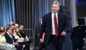 Дмитрий Песков на пресс-конференции президента.