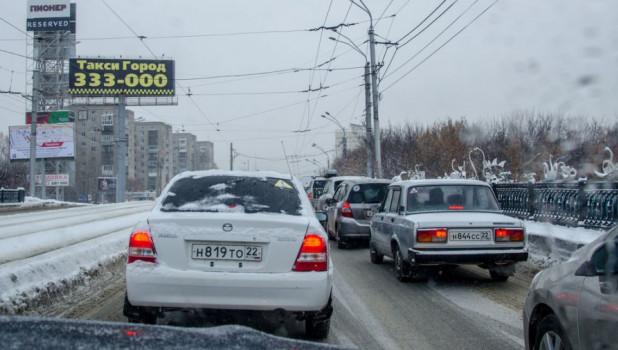Путепровод на проспекте Ленина.